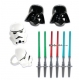 Food Decorating Pick Star Wars Molded Ring Light Saber Pick