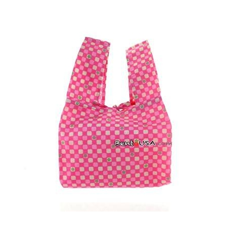 Japanese Bento Cloth Tote Bag for bento box lunch box - Pink Flower