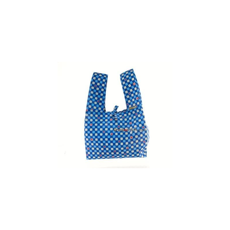 601f77fb714b Japanese Bento Cloth Tote Bag for bento box lunch box - Blue Flower