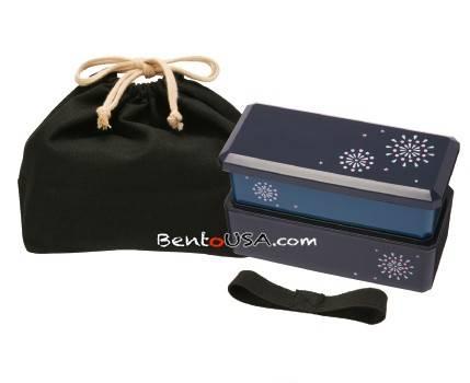 japanese bento lunch box designer set slim blue with dividers for. Black Bedroom Furniture Sets. Home Design Ideas