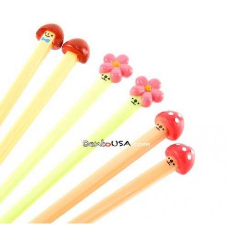 Japanese Cute 3D Chopsticks Mushroom Flower