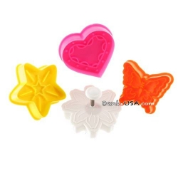 Bento Pastry Cookie Cutter and Stamp set of 4 L