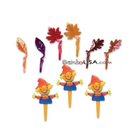 Food Decorating Pick Fall Leave Scarecrow