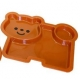 Microwavable Cute Lunch Plate Dish for Kids - 3 Sections
