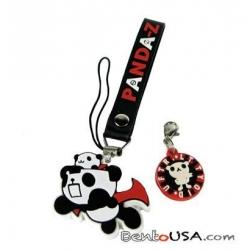 Cute Mobile Strap Key Chain - Panda Z the Robonimation