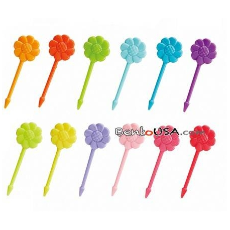 Japanese Bento Accessory Cute Food Pick Flower 12 pcs
