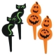 Food Decorating Pick Black Cat and Pumpkin
