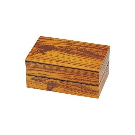 Hakoya Lacquer Bento Lunch Box 2 tier Imitation Wood Design