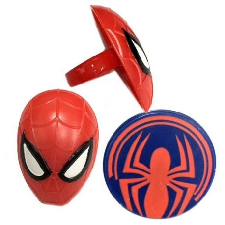 Food Decorating Party Ring Spider Man 8pcs