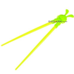 Japanese Assisted Chopsticks Green Silicone Rabbit