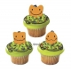 Food Decorating Pick Cute Happy Pumpkin 8 pcs