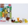Cute Japanese Safari Animal Puzzle Eraser Set