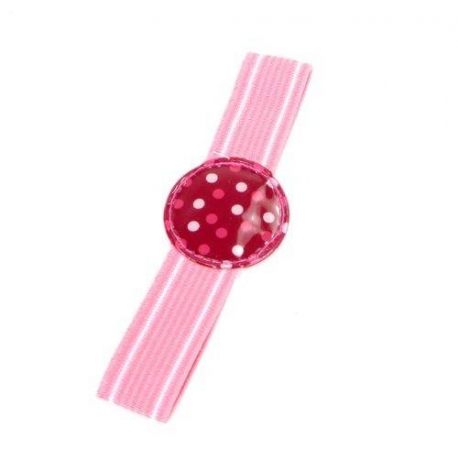 Japanese Bento Box Elastic Belt Lunch Box Bento Strap Polka Dots Pink