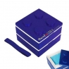 Lacquer Block Bento Lunch Box 2 tier with Cold Gel Pack Blue