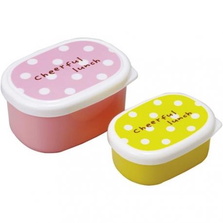 Microwavable Bento Food Cup with Seal Lid - Polkadot