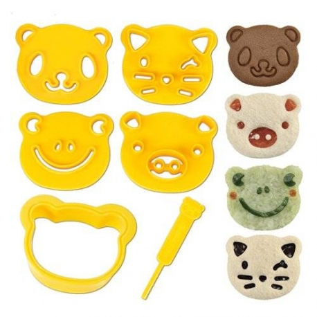 CuteZcute Bento Sandwich Cutter and Pastry Stamp Kit
