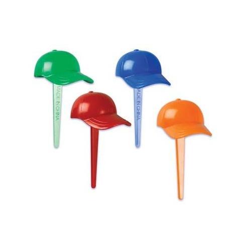 Food Decorating Pick Puffy Pick 3D Hat 4 Colors