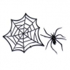 Food Decorating Topper Party 3D Spider Web