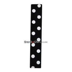 Japanese Bento Box Elastic Belt Bento Strap Polka Dots Black