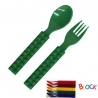 Building Block Japanese Cutlery Spoon and Fork set for Bento Green
