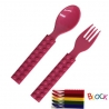 Building Block Japanese Cutlery Spoon and Fork set for Bento Pink