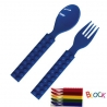 Building Block Japanese Cutlery Spoon and Fork set for Bento Blue