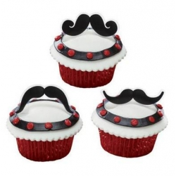 Food Decorating Pick Flexi Mustache Fun Stache