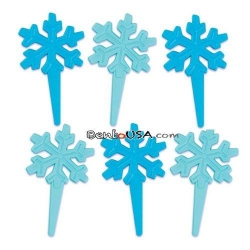 Food Decorating Pick Biodegradable Winter Snowflake