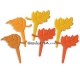 Food Decorating Pick Biodegradable Fall Foliage Leaves