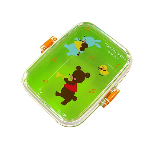 microwavable japanese bento box lunch snack box green for out of s. Black Bedroom Furniture Sets. Home Design Ideas