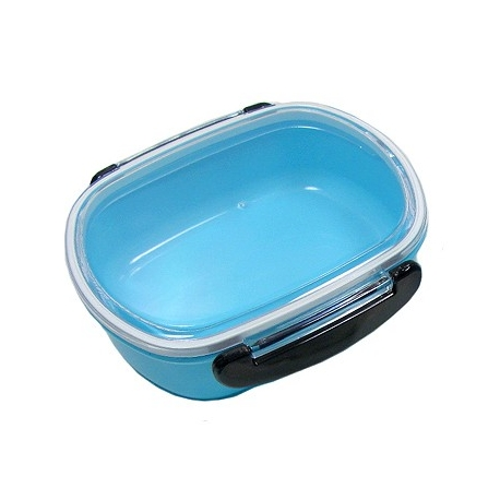 Japanese Microwavable 1 Tier Bento Box Lunch Box Oval Blue
