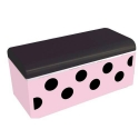 Bento Box Polka Dot Pink and Black with Cold Pack