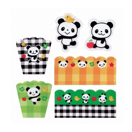 Panda Microwavable Bento Baran Food Partition Sheet Set 18pcs