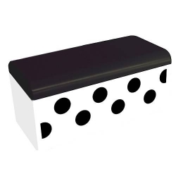 Bento Box Polka Dot White and Black with Cold Pack