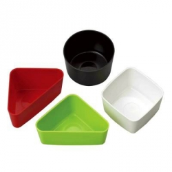 Microwavable Bento Hard Plastic Food Cup 4 pcs