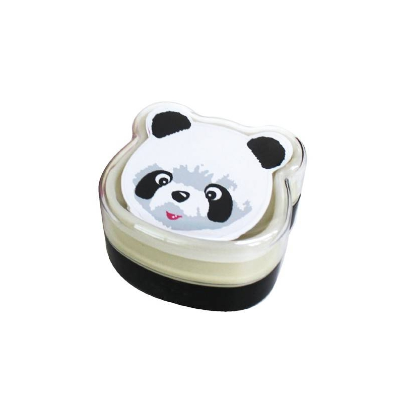 bento box 2 tier lunch box with strap panda face cold pack for ben. Black Bedroom Furniture Sets. Home Design Ideas