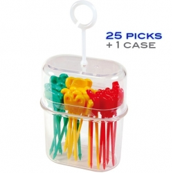 Japanese Bento Pick Cute Food Pick 25 pcs with Case