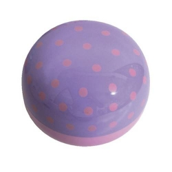 Round Lacquer Bento Box 2 tier with Cold Gel Pack Cute Polkadots