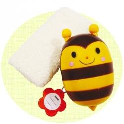 Portable Bento Oshibori Hand Towel Set with Bee Case