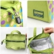 Microwavable Kids Glass Bento Lunch Box Set Spoon Fork Green