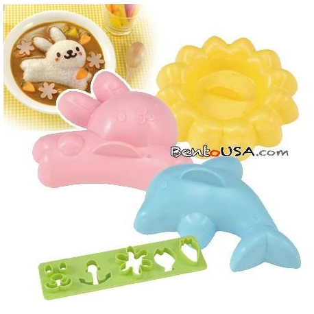 Fun Food Rice Mold dolphins flowers rabbits
