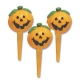 Food Decorating Pick 3D Jack O Lantern Pumpkin