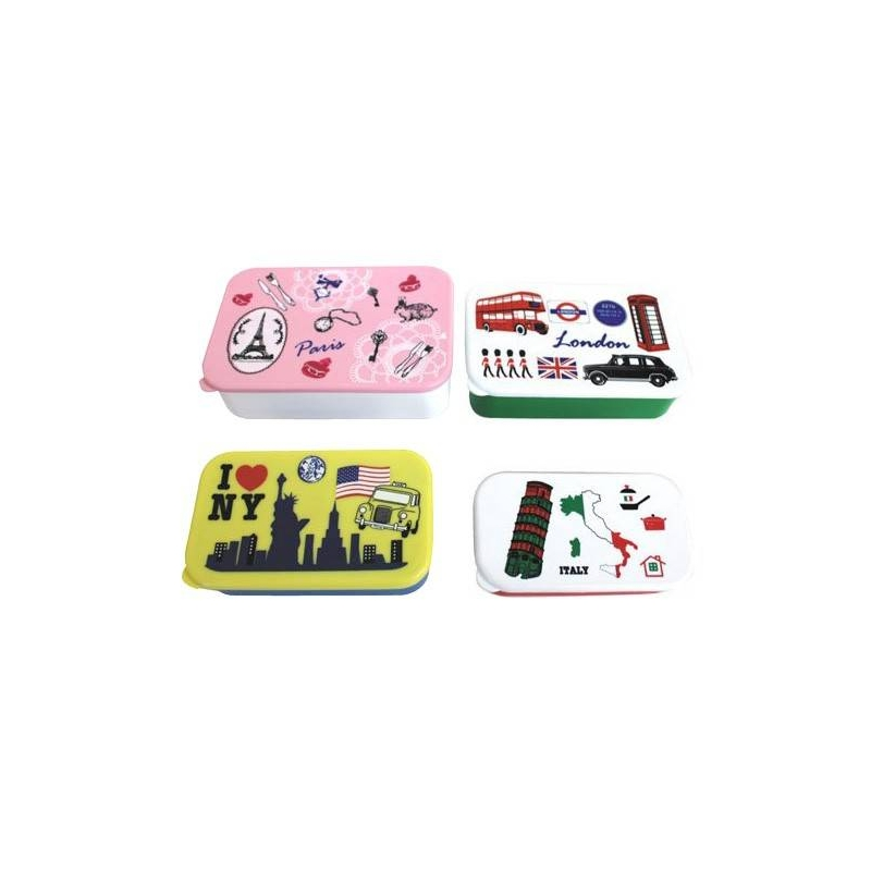 microwavable bento box lunch box 4 nesting food container for out. Black Bedroom Furniture Sets. Home Design Ideas
