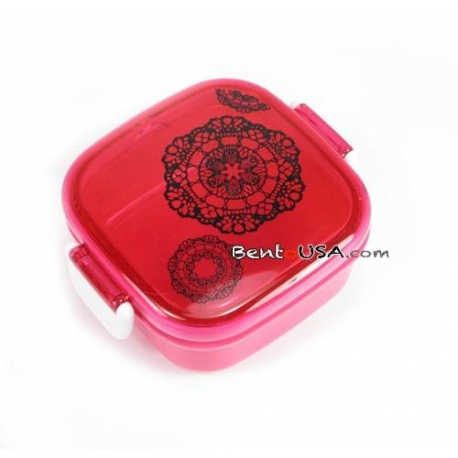 Microwavable Bento Box Snack Container Pink