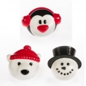 Food Decorating Pick Puffy Ring Snowman Polar Bear Penguin