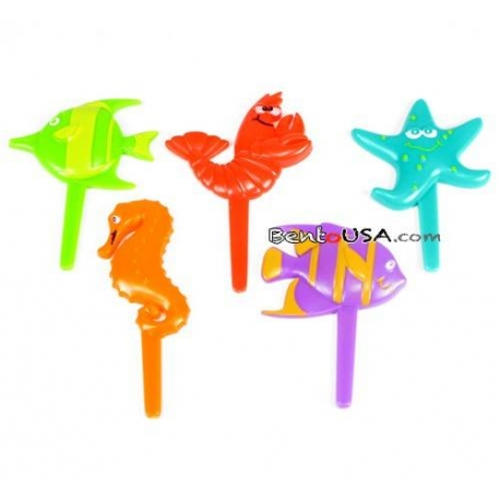 Food Decorating Pick Puffy Pick Sea Animal 20 pcs