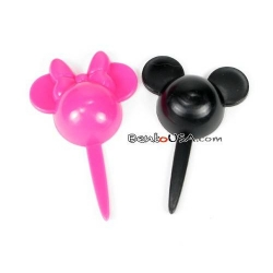 Food Decorating Pick Puffy Pick Mickey Minnie Mouse