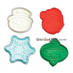 Bento Pastry Cookie Cutter and Stamp L Xmas