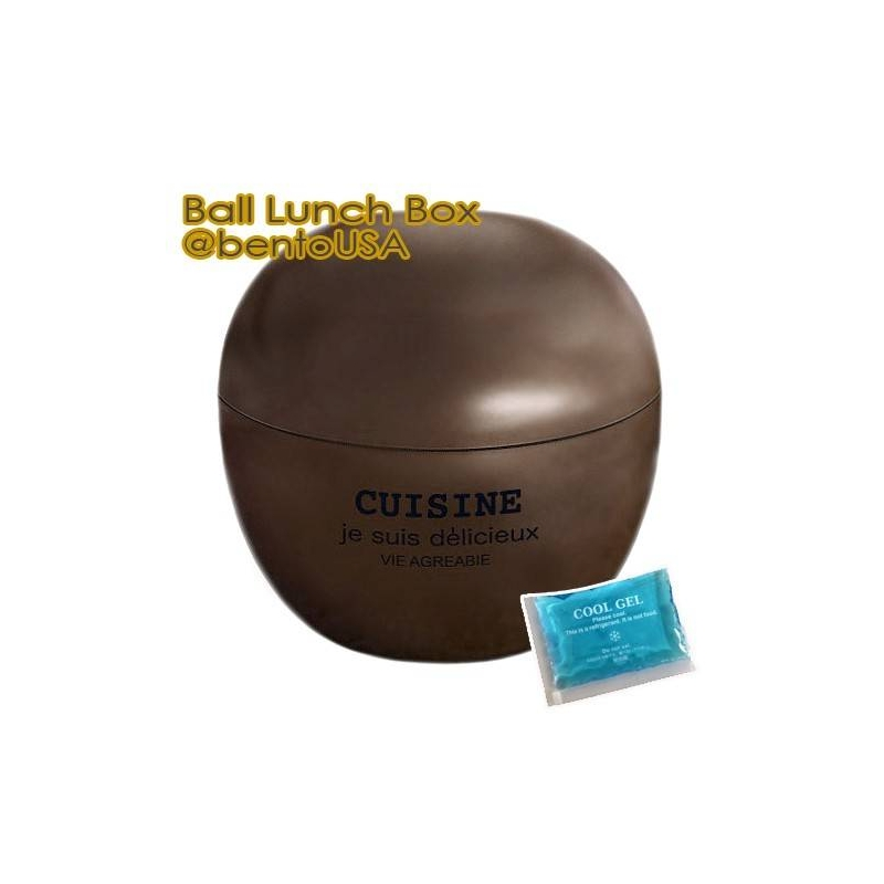 round lacquer bento box 2 tier with cold gel pack cute ball for be. Black Bedroom Furniture Sets. Home Design Ideas