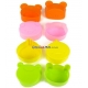 Microwavable Bento Thin Silicone Food Cup Animal